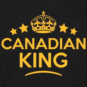 canadian king keep calm style crown star T-SHIRT - Men's T-Shirt