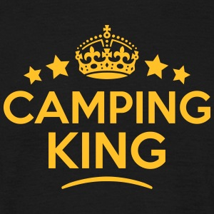 camping king keep calm style crown stars T-SHIRT - Men's T-Shirt