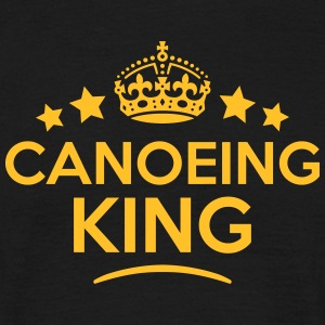 canoeing king keep calm style crown star T-SHIRT - Men's T-Shirt