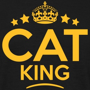 cat king keep calm style crown stars T-SHIRT - Men's T-Shirt