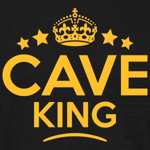 cave king keep calm style crown stars T-SHIRT - Men's T-Shirt