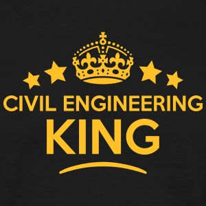 civil engineering king keep calm style c T-SHIRT - Men's T-Shirt