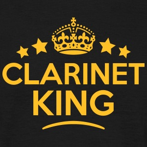 clarinet king keep calm style crown star T-SHIRT - Men's T-Shirt