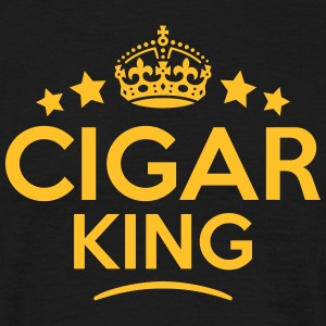 cigar king keep calm style crown stars T-SHIRT - Men's T-Shirt