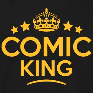 comic king keep calm style crown stars T-SHIRT - Men's T-Shirt