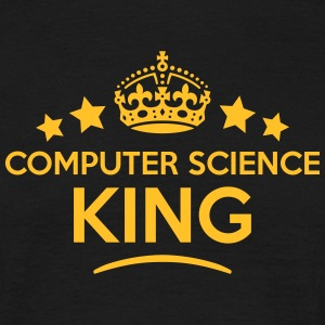 computer science king keep calm style cr T-SHIRT - Men's T-Shirt