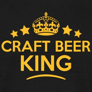 craft beer king keep calm style crown st T-SHIRT - Men's T-Shirt