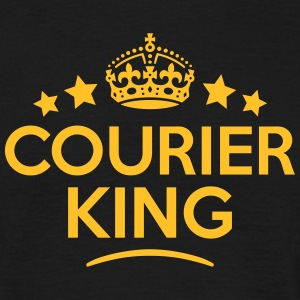 courier king keep calm style crown stars T-SHIRT - Men's T-Shirt