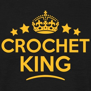 crochet king keep calm style crown stars T-SHIRT - Men's T-Shirt