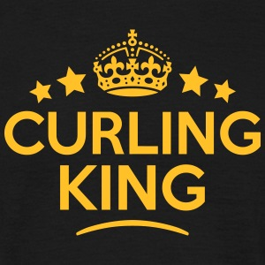 curling king keep calm style crown stars T-SHIRT - Men's T-Shirt
