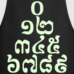 Cambodian Numbers Pyramid - 0 12 345 6789 Khmer  Aprons - Cooking Apron