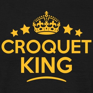 croquet king keep calm style crown stars T-SHIRT - Men's T-Shirt