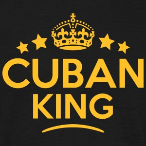cuban  king keep calm style crown stars T-SHIRT - Men's T-Shirt
