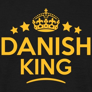danish king keep calm style crown stars T-SHIRT - Men's T-Shirt