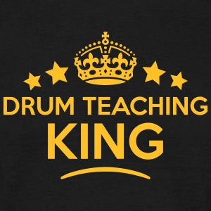 drum teaching king keep calm style crown T-SHIRT - Men's T-Shirt