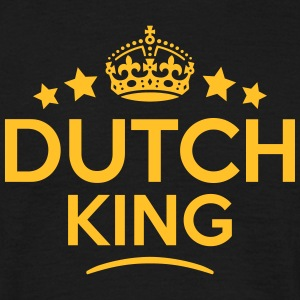 dutch king keep calm style crown stars T-SHIRT - Men's T-Shirt