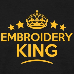 embroidery king keep calm style crown st T-SHIRT - Men's T-Shirt