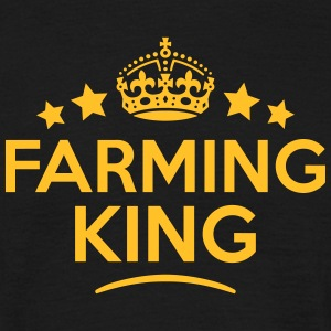 farming king keep calm style crown stars T-SHIRT - Men's T-Shirt