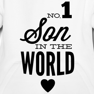 no1 son of the world Bluzy - Bluza dziecięca z kapturem Premium
