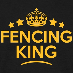 fencing king keep calm style crown stars T-SHIRT - Men's T-Shirt