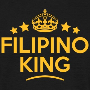 filipino  king keep calm style crown sta T-SHIRT - Men's T-Shirt