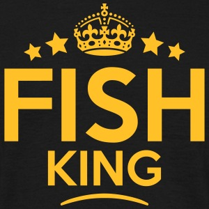 fish king keep calm style crown stars T-SHIRT - Men's T-Shirt