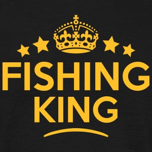 fishing king keep calm style crown stars T-SHIRT - Men's T-Shirt