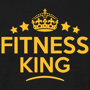 fitness king keep calm style crown stars T-SHIRT - Men's T-Shirt