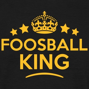 foosball king keep calm style crown star T-SHIRT - Men's T-Shirt