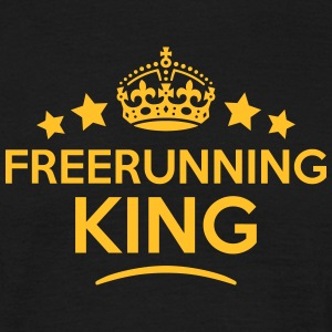 freerunning king keep calm style crown s T-SHIRT - Men's T-Shirt