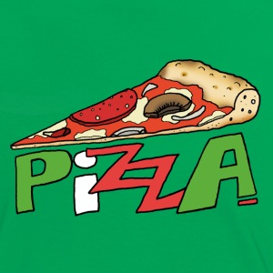 Pizza!! - Frauen Kontrast-T-Shirt