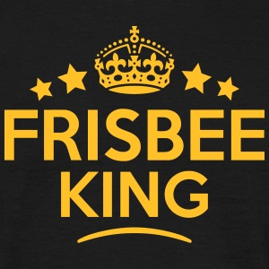 frisbee king keep calm style crown stars T-SHIRT - Men's T-Shirt