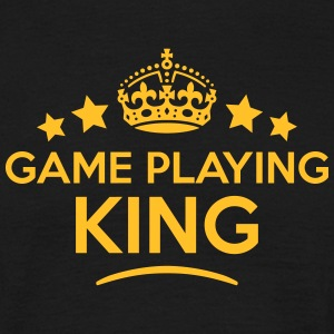 game playing king keep calm style crown  T-SHIRT - Men's T-Shirt