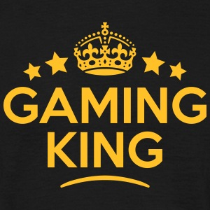 gaming king keep calm style crown stars T-SHIRT - Men's T-Shirt