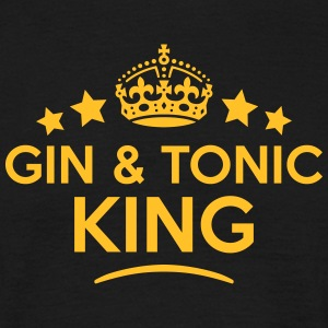 gin  tonic king keep calm style crown st T-SHIRT - Men's T-Shirt