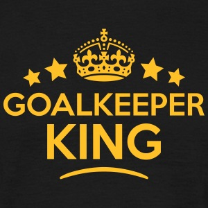 goalkeeper king keep calm style crown st T-SHIRT - Men's T-Shirt