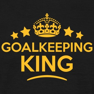 goalkeeping king keep calm style crown s T-SHIRT - Men's T-Shirt
