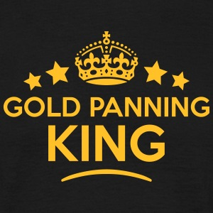 gold panning king keep calm style crown  T-SHIRT - Men's T-Shirt