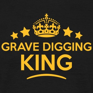 grave digging king keep calm style crown T-SHIRT - Men's T-Shirt