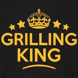grilling king keep calm style crown star T-SHIRT - Men's T-Shirt