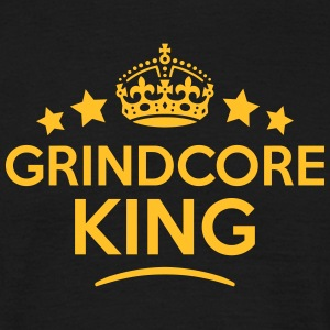 grindcore king keep calm style crown sta T-SHIRT - Men's T-Shirt