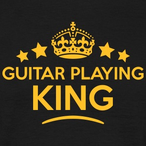 guitar playing king keep calm style crow T-SHIRT - Men's T-Shirt