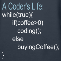 "Nerd T-Shirts mit ""Programmierer Kaffee Code"""