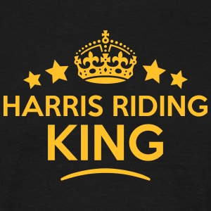 harris riding king keep calm style crown T-SHIRT - Men's T-Shirt