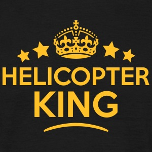 helicopter king keep calm style crown st T-SHIRT - Men's T-Shirt