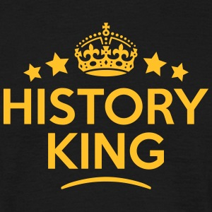 history king keep calm style crown stars T-SHIRT - Men's T-Shirt