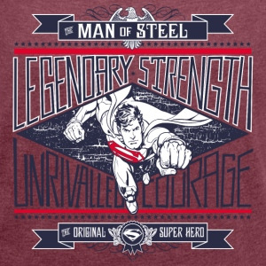Superman Legendary Strength dame T-shirt - Dame T-shirt med rulleærmer