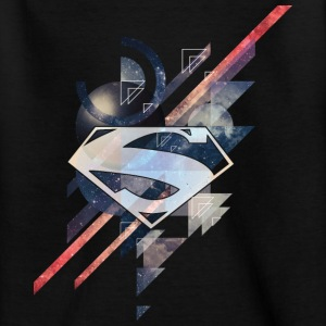 Superman Logo Galaxy Kinder T-Shirt - Kinder T-Shirt
