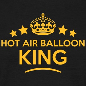 hot air balloon king keep calm style  T-SHIRT - Men's T-Shirt