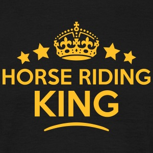horse riding king keep calm style crown  T-SHIRT - Men's T-Shirt